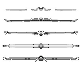Set of Art deco borders and ornaments.