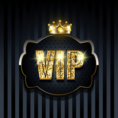Premium vip background with golden elements