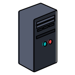 computer tower isolated icon vector illustration design