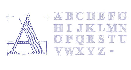 Technical Drawing Font