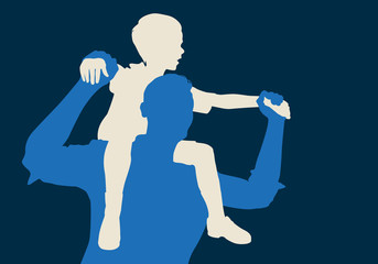 enfant - père - fils - bonheur - génération - aimer - sur les épaules - amour - heureux - porter