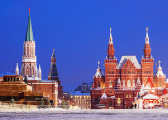 Winter view of the Red Square in Moscow