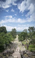 landscape view from preah vihear mountain in north cambodia