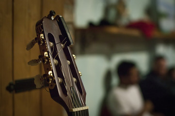 Scoop of the acoustic guitar