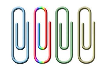Clip de metal de colores.
