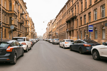 Petersburg, Russia - June 30, 2017: movement of cars on the streets of the city.