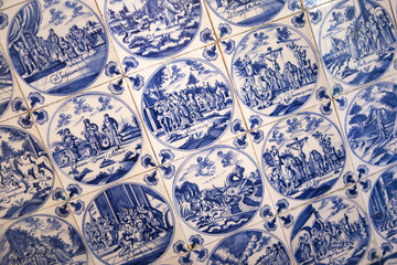 Old Indigo Blue Delft Tiles