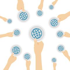 Hand hält Symbol - Browser