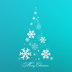 Merry Christmas and Happy New Year greeting card .