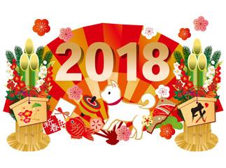 2018戌 扇 門松