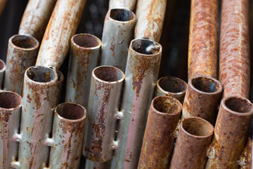 Rust on steel pipe.