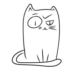 Funny sceptic cat