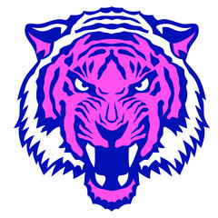 un tigre qui rugit