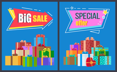 Big Sale Special Offer Arrow Shape Label Sticker