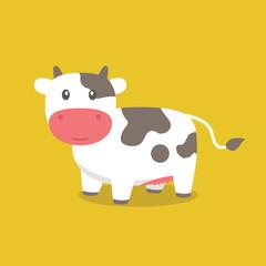 Cute Cow Vector, Cute Cow Cartoon,  Cow Cartoon, Cow Vector