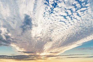 巻積雲の夕空
