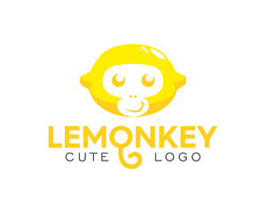 Happy Funny Limes Monkey Cute Logo
