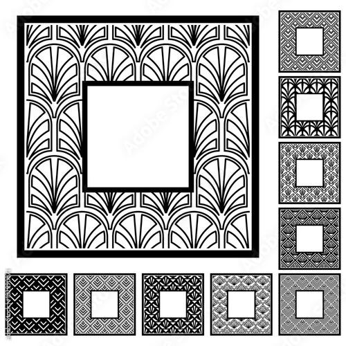 Set of vintage frames border with beautiful filigree ornamental ...