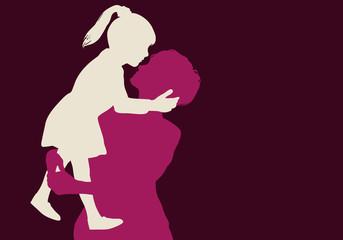 enfant - mère - fille - bonheur - génération - aimer - dans les bras - amour - embrasser - heureux