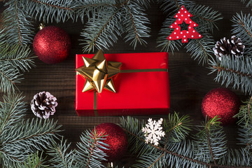 christmas background with christmas gifts