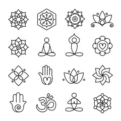 Yoga and Meditation Icons 02