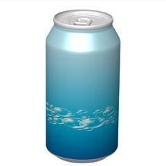 canette soda bleue bulles