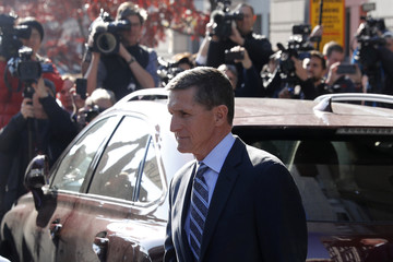 Former U.S. National Security Adviser Michael Flynn departs after plea hearing at U.S. District Court in Washington