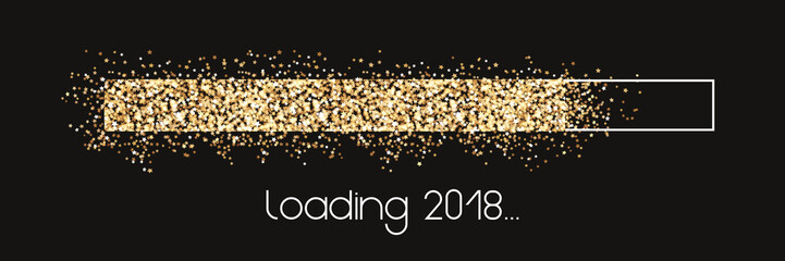 Loading 2018 - golden Stars loading bar