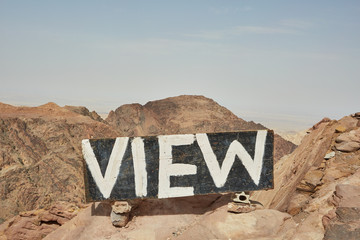 sign in the hills above the ancient city of Petra