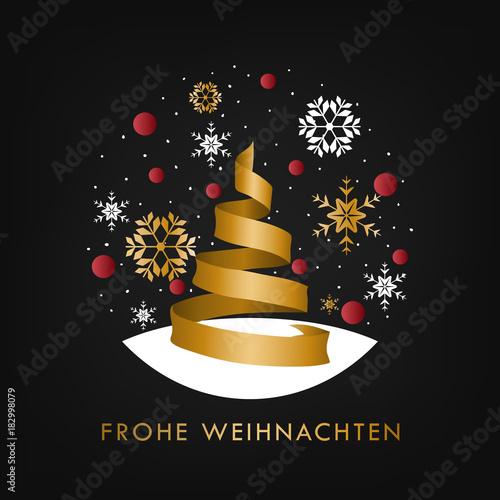 Geschenkband Frohe Weihnachten.Frohe Weihnachten Tanne Aus Geschenkband Stockfotos Und