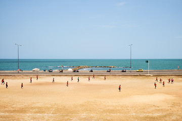 Soccer game on Cartagena Beach