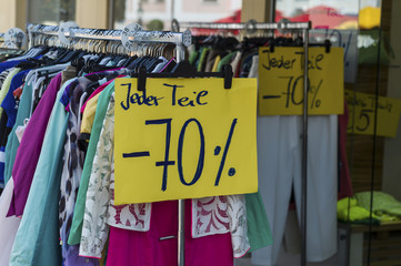 sales in the textile industry