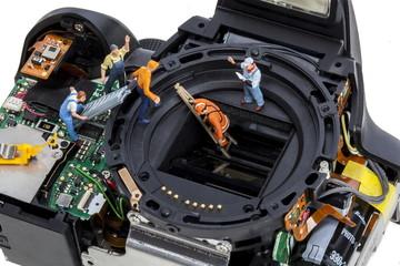 Repair digital SLR camera
