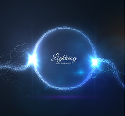 Lightning vector background. EPS10