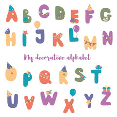 My decorative alphabet