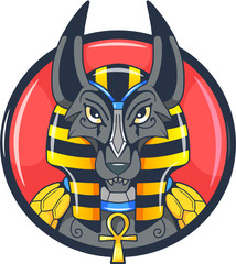 Ancient Egyptian god anubis vector picture