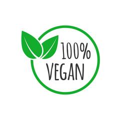 Fototapeta Organic vegan design template. Raw, healthy food badge obraz