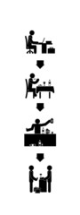 stick figure vector life cycle expenditure of a person