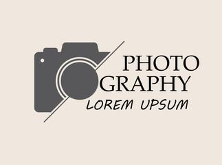 Vector logo for photographer. Logo template photography studio, photographer, photo.