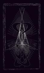 Tarot cards - back design.  Modern planets Uranus, Neptune and Pluto