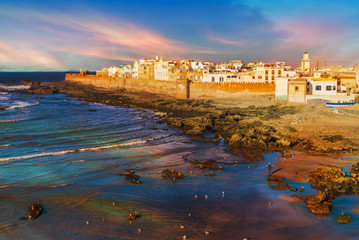 Wall Mural - Essaouira town at the sunset time, Morocco