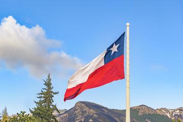 Chille Flag, Coyahique, Chile