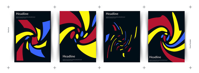 Abstract covers set. Geometric shapes composition. Avant-garde. Eps10 vector.