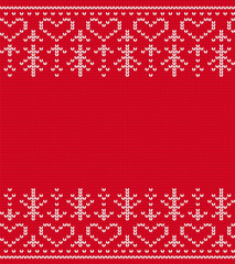 Knitted seamless pattern vector. Christmas background