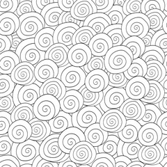 Adult colouring book page with a picture of the waves