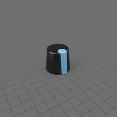 Blue and black knob  for electronics