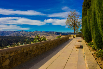 Ronda. Beautiful views in the city of Ronda, province of the city of Malaga. Andalusia, Spain. Photo taken – 13 n ovember 2017