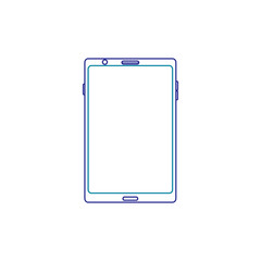 mobile phone gadget technology touch screen vector illustration blue line