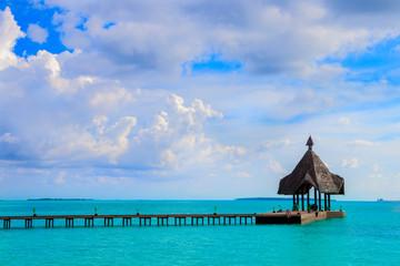 At the beach on Maldives