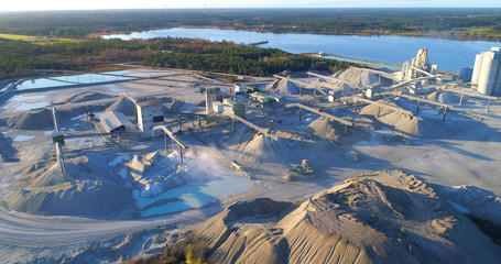Limestone quarry on the island of Gotland in Sweden